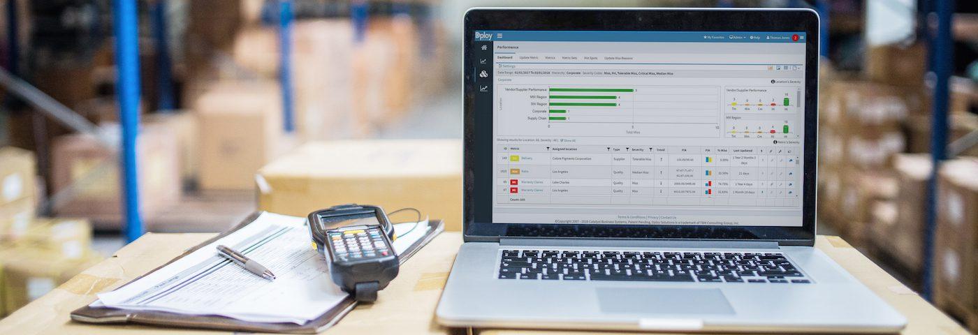 KPI management dashboard header