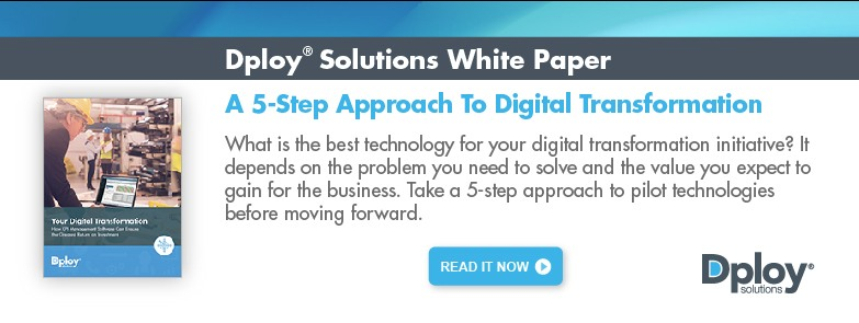 White paper: A 5-Step Approach to Digital Transformation - Dploy Solutions