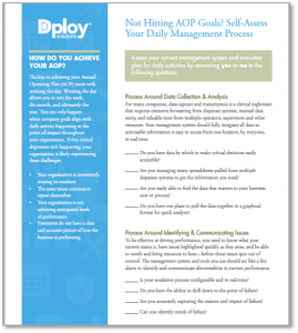 Self-Assess Your Daily Operations Management Process In Order To Make It More Lean