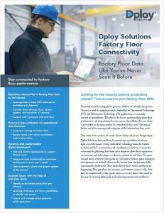 Factory Floor Connectivity & Industrial IoT (IIoT) Datasheet