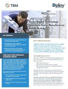 digital manufacturing maturity